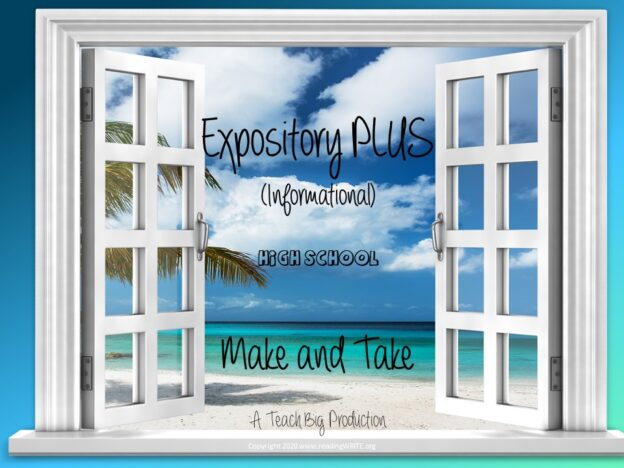 Expository (Grades 9-12) with Make and Take course image