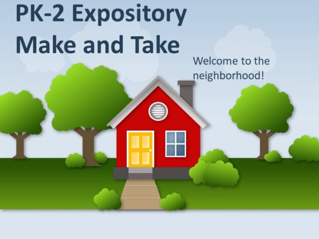 Expository (Grades PK-2) with Make and Take course image