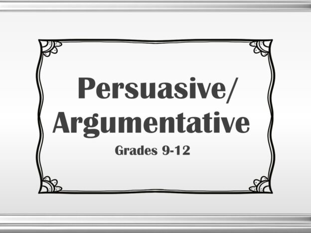 Persuasive (Grades 9-12) course image